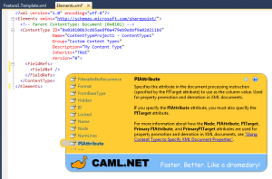 CAML.NET Intellisense ScreenShot